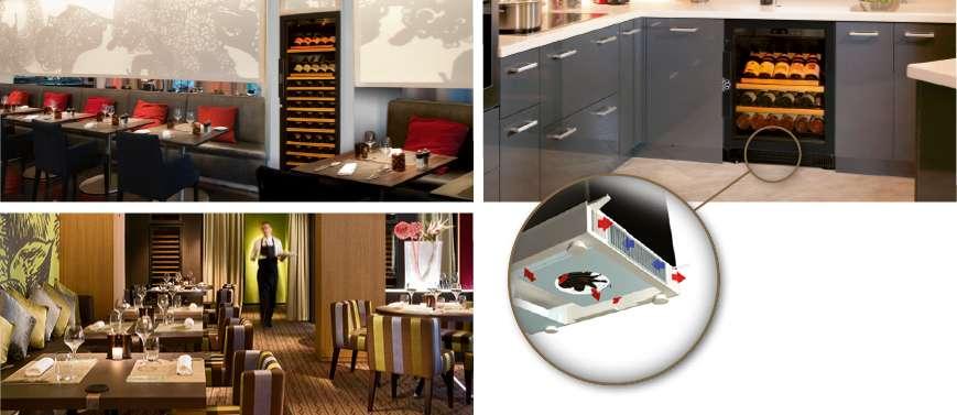 Cellar Concept - Exclusive EuroCave distributor UAE - Wine cabinet 5000 built in restaurant