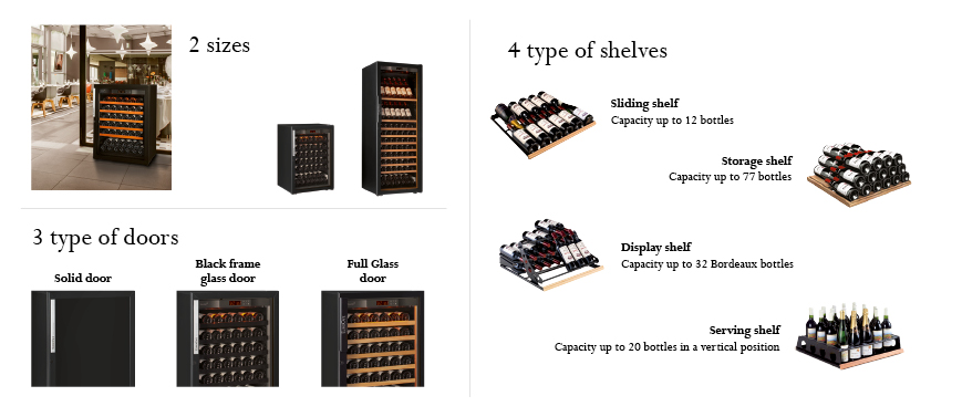 Cellar Concept - EuroCave UAE - Wine cabinet 6000 choice of configurations